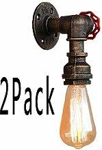 Zozmy 2 Pack Indoor Vintage Industrielle