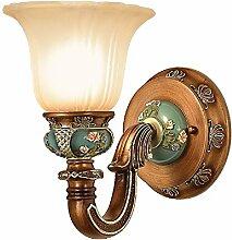 ZPSPZ Wand Lampe Europäische Garten Schlafzimmer