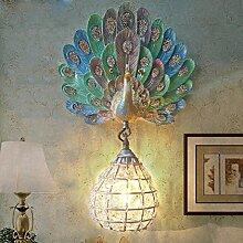 ZPSPZ Wand Lampe Französische Pastoralen Blaue
