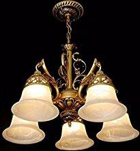 ZPSPZ-wohnzimmer - lampe, schmiedeeiserne retro - kronleuchter, schmiedeeiserne schlafzimmer lampe