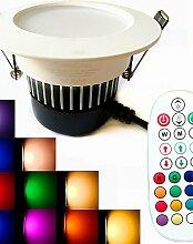 ZQ 1 Stück SchöneColors Dimmbar / Geräusch aktiviert / Ferngesteuert / Dekorativ LED Deckenstrahler 9W 650 lm RGBW K 18PCS SMD 5730Warmes