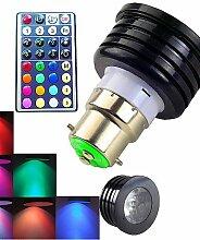 ZQ 1 Stück SchöneColors Ferngesteuert / Dekorativ / Dimmbar LED Spot Lampen MR16 B22 4W 300 LM RGB K 1 High Power LED RGB AC 100-240 V