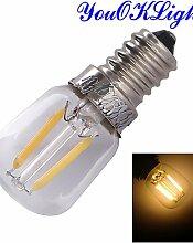 ZQ 1 Stück YouOKLight E14 2W 2 COB 200 lm Warmes Weiß B edison Vintage Lichtdekoration AC 220-240 V