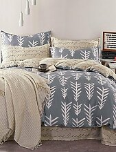 ZQ 100% Baumwoll-Twill Nordic Home Design Bettbezug für Queen-Size-Bett gesetzt , queen
