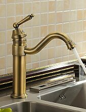 ZQ Antike inspiriert Waschbecken Wasserhahn (Messing antik finish)
