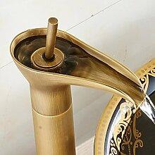 ZQ Bronze Bad Waschbecken Armaturen Einlochmontage Einhand