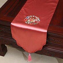 ZQ Chinesische Stickerei Gartentisch Flagge