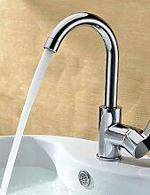 ZQ Chrom-Finish aus massivem Messing Waschbecken Wasserhahn