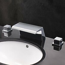 ZQ Designer der Gegenwart breit Auslauf Wasserfall Waschbecken Wasserhahn