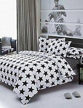 ZQ direkt ab Werk Sternen Bettwäsche weiß und schwarz gedruckt Decken Klar Baumwolle Bettwäsche-Set Twin Queen König Großhandel , full