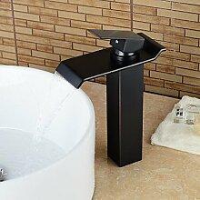 ZQ Individuelle Badezimmer Waschbecken Wasserhahn Ölschliff Bronze-Finish Einhebel