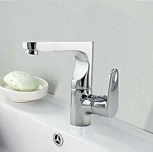 ZQ Messing verchromt drehbar Waschbecken Wasserhahn–Silber