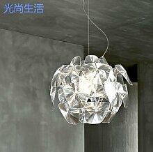 ZQ@QX Dekorative Hauptbeleuchtung Kronleuchter Einfache und moderne Laser Kronleuchter n Wohnzimmer Schlafzimmer Lampe Kronleuchter,Medium