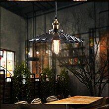 ZQ@QX Home-Design und Dekoration Beleuchtung Kronleuchter des kreativen kleinen schwarzen Regenschirm Kronleuchter Pub Cafe Retro-industrielle Kronleuchters, 25CM (ohne Leuchtmittel)
