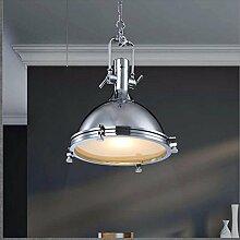 ZQ@QX Home-Design und Dekoration Beleuchtung Kronleuchter Iron Art Restaurant Bar industrielle Einkopf Deckel Kronleuchter, A. (ohne Leuchtmittel)
