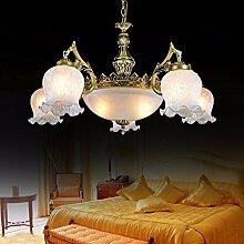 ZQ@QX Home-Design und Dekoration Beleuchtung Kronleuchter Lüster Eisen Wohnzimmer Schlafzimmer industrielle Wind Kronleuchter, 5 + 2head (ohne Leuchtmittel)
