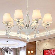 ZQ@QX Home-Design und Dekoration Beleuchtung Kronleuchter minimalistischen Stoffe Bügeln Kronleuchter, 8head (ohne Leuchtmittel)