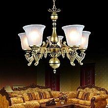 ZQ@QX Home-Design und Dekoration Beleuchtung Kronleuchter Retro Kronleuchter Restaurant Gartenkunst Lampen Eisen Schlafzimmer Lampe (ohne Leuchtmittel)