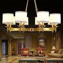 ZQ@QX Homepage Design und Dekoration Beleuchtung Kronleuchter minimalistischen Wohn-Zimmer Restaurant Schlafzimmer Luxus Villa Kronleuchter, 8head (ohne Leuchtmittel)