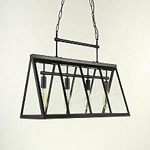 ZQ@QX Moderne Design Dekoration Lampe Schlafzimmer Wohnzimmer Küche Esszimmer Kronleuchter Moderne einfache dreieckige Wohnzimmer Eisen Kronleuchter