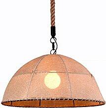 ZQ@QX Modernes Design und klassische Mode Anhänger Lampe Schlafzimmer Wohnzimmer Küche Kronleuchter Hanf-Leinen-Kronleuchter , 350mm