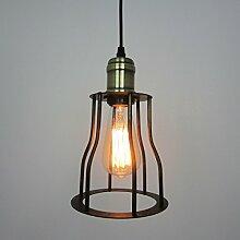 ZQ@QX Modernes Design und klassische Mode Anhänger Lampe Schlafzimmer Wohnzimmer Küche Kronleuchter Amerikanische Käfig Kronleuchter
