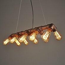 ZQ@QX Modernes Design und klassische Mode Anhänger Lampe Schlafzimmer Wohnzimmer Küche Kronleuchter Dual Abfluss 10 Kopf Anhänger