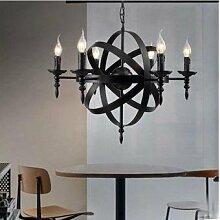 ZQ@QX Modernes Design und klassische Mode Anhänger Lampe Schlafzimmer Wohnzimmer Küche Kronleuchter Runde Kerze Kronleuchter