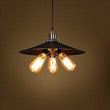 ZQ@QX Modernes Design und klassische Mode Anhänger Lampe Schlafzimmer Wohnzimmer Küche Kronleuchter Schmiedeeisen 3 Pendelleuchte