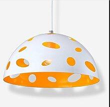 ZQ@QX Modernes Design und klassische Mode Anhänger Lampe Schlafzimmer Wohnzimmer Küche Kronleuchter LED Stirnlampe , white orange