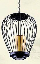 ZQ@QX Modernes Design und klassische Mode Anhänger Lampe Schlafzimmer Wohnzimmer Küche Kronleuchter Stil klassischer Vogelkäfig Schmiedeeisen Restaurant Kronleuchter