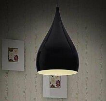 ZQ@QX Modernes Design und klassische Mode Anhänger Lampe Schlafzimmer Wohnzimmer Küche Kronleuchter Minimalistische LED Kronleuchter 260 * 430 (mm) , black