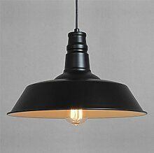 ZQ@QX Modernes Design und klassische Mode Anhänger Lampe Schlafzimmer Wohnzimmer Küche Kronleuchter Schmiedeeisen Aluminium Deckenleuchte , black