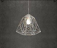 ZQ@QX Modernes Design und klassische Mode Anhänger Lampe Schlafzimmer Wohnzimmer Küche Kronleuchter Moderne Eisen Kronleuchter , white