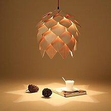 ZQ@QX Modernes Design und klassische Mode Anhänger Lampe Schlafzimmer Wohnzimmer Küche Kronleuchter Hölzerne Tannenzapfen Kronleuchter