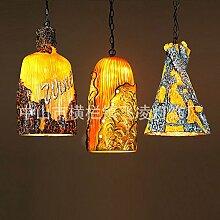 ZQ@QX Modernes Design und klassische Mode Anhänger Lampe Schlafzimmer Wohnzimmer Küche Kronleuchter Bunte Harz Flasche Kronleuchter , a