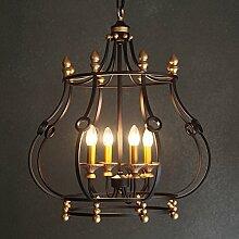 ZQ@QX Modernes Design und klassische Mode Anhänger Lampe Schlafzimmer Wohnzimmer Küche Kronleuchter Vintage Eisen Kronleuchter