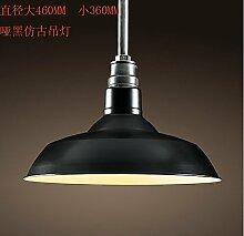 ZQ@QX Modernes Design und klassische Mode Anhänger Lampe Schlafzimmer Wohnzimmer Küche Kronleuchter Eisen Kronleuchter 46cm , 3