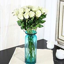 ZQ@QX10 Heimtextilien Dekoration rosa Blüten künstliche Blumen, Weiß