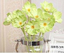 ZQ@QX10 Heimtextilien desktop Dekoration Blumen Blume, grün