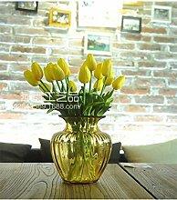 ZQ@QX10 Heimtextilien desktop Simulation Blumenornamenten, gelb