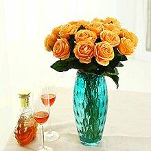 ZQ@QX10 Rosen Dekoration Simulation Blume, orange