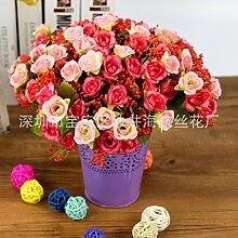 ZQ@QX5 künstliche Blumen Heimtextilien dekoratives Blume Simulation, Rosa