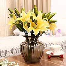 ZQ@QX8 künstliche Blumen Heimtextilien dekoratives Blume Simulation, gelb