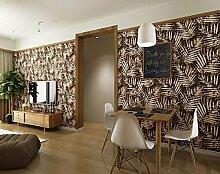 ZQ@QXBig Tree, Gästehaus, Zimmer, Restaurant, Tapete, Tapeten, 53*1000cm, braun