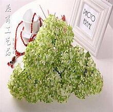 ZQ@QXDer kreative Prozess Heimtextilien Dekoration 5 beam Simulation Blume Blumen, Grün