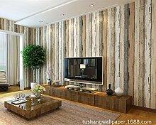 ZQ@QXEinfache Nachahmung Holzmaserung Vliestapeten, Wallpaper 53*1000 cm, Holz
