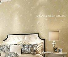 ZQ@QXGarten Vlies, Schlafzimmer, Wohnzimmer, Tapete, Tapeten, 53*1000cm, Beige8692