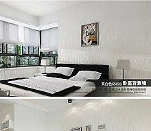 ZQ@QXNicht modernen minimalistischen Tapeten, Tapete gewebt, 53*950 cm, weiß