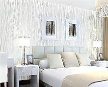 ZQ@QXNon-woven Einfache streifen Tapete, Tapete 53*1000 cm, weiß